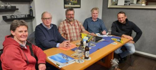 verabschiedeter Vorstand, v.l.n.r. Birte Neubauer, Johann Schumacher, Reinhold Wohltmann, Carsten Warmbold, Mathias Hausmann